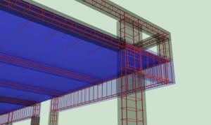 armatura plošče, vertikalne vezi in horizontalne vezi